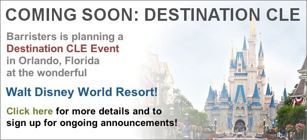 Destination CLE in Orlando, Florida, coming in 2012! Click here for more.