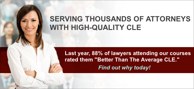 Serving Thousands of Attorneys Throughout Mississippi, Alabama, Tennessee, Arkansas, and Texas with High-Quality Continuing Legal Education (CLE)